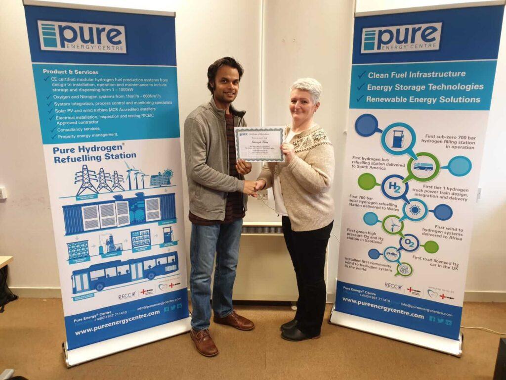 Jahanzeb Tariq hydrogen training course certificate